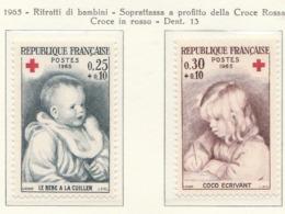 PIA  - FRANCIA  -  1965  : A Profitto Della Croce Rossa -  Opere Do Renoir   - (Yv  1466-67) - First Aid