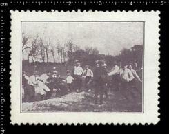 German Poster Stamp Cinderella Reklamemarke Vignette, Jamboree Scout Pfadfinder Rope Pulling. - Vignetten (Erinnophilie)