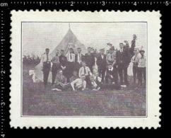 German Poster Stamp Cinderella Reklamemarke Vignette, Jamboree Scout Pfadfinder Camping. - Vignetten (Erinnophilie)