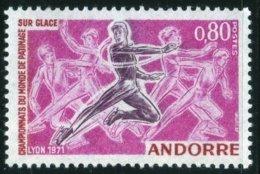 1971 Championnats Du Monde De Patinage Sur Glace Lyon    Sport  N° 209   MNH Neuf Sans Charnières  Voir Explications - Andorre Français