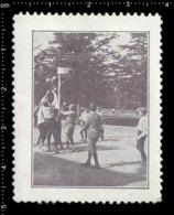 German Poster Stamp Cinderella Reklamemarke Vignette, Jamboree Scout Pfadfinder Basketball. - Vignetten (Erinnophilie)