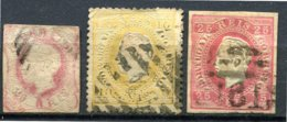 Portugal - 1862/1880 - Lot Timbres Effigie Louis 1er - Oblitérés - Yt 15 - 36A - 40 (non Dentelé) - Oblitérés