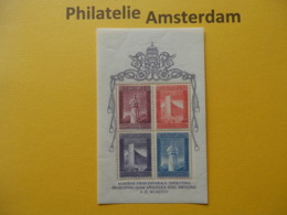 Vatican 1958, EXPO UNIVERSELLE WERELDTENTOONSTELLING BRUXELLES: Mi 292-95, Bl. 2, ** - 1958 – Brüssel (Belgien)