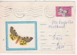 1971 , Romania , Butterfly , Papillon , Schmetterling , Vlinder , Mariposa , Pre-paid Envelope - Butterflies