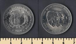Dominicana 1/2 Peso 1987 - Dominicaine