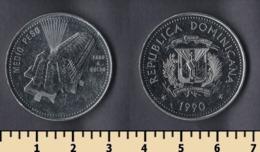 Dominicana 1/2 Peso 1990 - Dominicaine