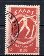 Greece 1939 Cancelled Tu - Usados