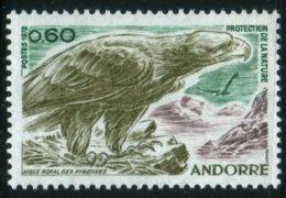 1972 Protection De La Nature Aigle Royal  Faune Oiseau Rapace      MNH Neuf Sans Charnières  Voir Explications - Andorre Français