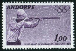 1972 Jeux Olympiques De Munich Tir Sport     MNH Neuf Sans Charnières  Voir Explications - Andorre Français