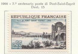 PIA  - FRANCIA  -1966 : 7° Centenario Del Ponte  Saint-Esprit - (Yv  1481) - Ponti