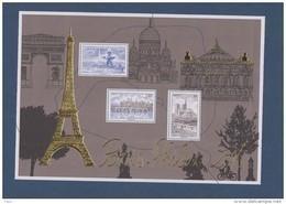 2016-F5048**(5048/5050) BLOC DORE.MONUMENTS DE PARIS.SALON PHILEX 2016 - Unused Stamps