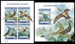 DJIBOUTI 2019 - Pterosaurs, M/S + S/S. Official Issue [DJB190506] - Préhistoriques