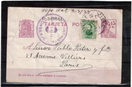 LCTN57/5 -  ESPAGNE EP CP VIGO / PARIS MARS 1933  TEXTE ARGENTINE - Stamped Stationery