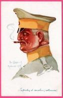 Caricature EMILE DUPUIS 1914 Leurs Caboches - Inspecteur De Cavalerie Allemande - VISE PARIS N° 35 - Dupuis, Emile