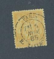 FRANCE - N°YT 92 OBLITERE CAD PARIS RUE TAITBOUT DU 5/11/1885 - COTE YT : 5€ - 1876-1898 Sage (Type II)