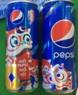 A Vietnam Viet Nam Pepsi 330ml SLIM Can : NEW YEAR 2020 - Licorn / Opened By 2 Holes - Cans