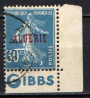 """ALGERIA - 1925 - SEMINATRICE CON BANDELLA PUBBLICITA'  """"GIBBS"""" - USATO - Algerien (1924-1962)"""