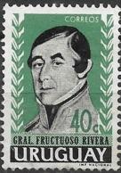 URUGUAY 1962 Honouring Gen. Fructuoso Rivera (1st President, 1830-35) - 40c Gen. Rivera FU - Uruguay