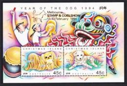 Christmas Is. Year Of The Dog MS Overprinted 'Melbourne' MNH SG#MS388m - Christmas Island