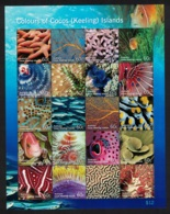 Cocos (Keeling) Is. Fish Colours Of Cocos Marine Life Sheetlet Of 20 Stamps D1 - Isole Cocos (Keeling)