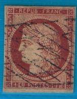 CERES YT 6b Variété Non Répertoriée - Timbre Certifié - RRR - 1849-1850 Cérès