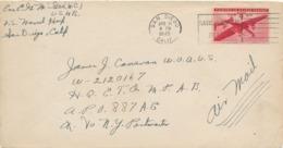 Enveloppe San Diego To New York Air Mail 1945 Naval Hospital Branch - Briefmarken