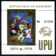 5125 - DAHOMEY - Block 40 ** - GOLD-MARKE / WELTRAUM / UPU / SPACE - Benin – Dahomey (1960-...)