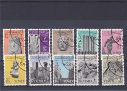 YEMEN 1961 MAREB Yvert 99-108, Michel 215-224 Oblitérés - Yemen
