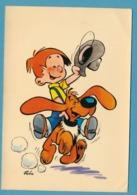 LES PERSONNAGES DU JOURNAL DE SPIROU - LES INSEPARABLES BOULE ET BILL - Carte N° 40-5 Illustrateur ROBA - Comics