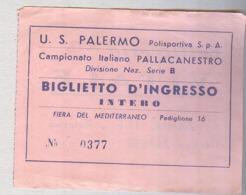 PALLACANESTRO PALERMO POLISPORTIVA..TICKET....BIGLIETTO  PARTITA - Match Tickets