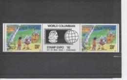 """POLYNESIE Française - Les Découvreurs De L'Amérique S'étaient Trompés - Exposition Philatélique """"World Columbian Stamp - Polynésie Française"""