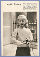 COUPURE De PRESSE 1955 - 17,5 X 24,5 Cm - PHOTO ACTRICE BRIGITTE FOSSEY ENFANT - FILM JEUX INTERDITS - Altri