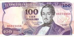 Colombia P.418 100  Peso  1980 Vf - Colombia