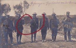 ( 80 ) - SOMME Gefangene Engländer Prisonniers Anglais   Carte Photo Allemande - Roisel