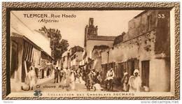 S9  ALGERIE  TLEMCEN  Rue HAEDO 10 X 6 Cm  (cliché De JOUVE. ) Africa  TRADECARD CHOCOLATE Afrique - Vieux Papiers