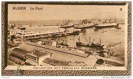 S9  ALGERIE  PORT  D ' ALGER 10 X 6 Cm  (cliché O.E ) TRADECARD CHOCOLATE Africa Afrique - Vieux Papiers