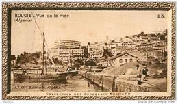S9  ALGERIE  BOUGIE  VUE DE LA MER 10 X 6 Cm  (cliché O.E ) TRADECARD CHOCOLATE Africa Afrique - Vieux Papiers
