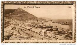 S9  ALGERIE  ORAN PORT  10 X 6 Cm  (cliché O.E.. ) TRADECARD CHOCOLATE Africa Afrique - Vieux Papiers