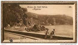 S9  ALGERIE  ANSE DE SIDI YAHIA 10 X 6 Cm  (cliché O.E.. ) TRADECARD CHOCOLATE Africa Afrique - Vieux Papiers