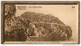 S9  ALGERIE  BOUGIE CORNICHE  10 X 6 Cm  (cliché O.E.. ) TRADECARD Africa Afrique - Vieux Papiers
