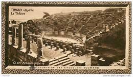 S9  ALGERIE  TIMGAD  THEATRE  10 X 6 Cm  (cliché O.E. ) TRADECARD CHOCOLATE Africa Afrique - Vieux Papiers