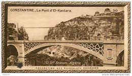 S9  ALGERIE  CONSTANTINE  PONT EL KANTARA   10 X 6 Cm  (cliché O.E ) TRADECARD CHOCOLATE Africa Afrique - Vieux Papiers