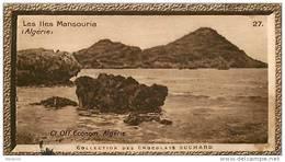 S9  ALGERIE  ILES MANSOURIA 10 X 6 Cm (cliché O.E. ) TRADECARD CHOCOLATE Africa Afrique - Vieux Papiers