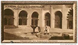 S9  ALGERIE  TLEMCEN  MOSQUEE ANIMEE 10 X 6 Cm  (cliché JOUVE ) TRADECARD CHOCOLATE Africa Afrique - Vieux Papiers