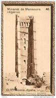 S9  ALGERIE  MANSOURA  MINARET 10 X 6 Cm (cliché O.E ) TRADECARD CHOCOLATE Africa Afrique - Vieux Papiers