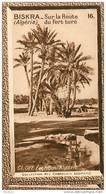 S9  ALGERIE  BISKRA  ROUTE DU FORT TURC 10 X 6 Cm  (cliché O.E.) TRADECARD CHOCOLATE Africa Afrique - Vieux Papiers