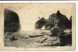 CPA-Carte Postale -France-Sion- Le Soir Sur Les Rochers En 1932 VM7588 - Saint Hilaire De Riez