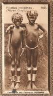 S9  Moyen CONGO FILLETTES Nues Bijoux 10,5 X 6,5cm TRADECARD CHOCOLATE Colonies France Afrique - Vieux Papiers
