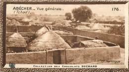 S9  TCHAD  ABECHER  10,5 X 6,5cm TRADECARD CHOCOLATE Colonies France Afrique - Vieux Papiers