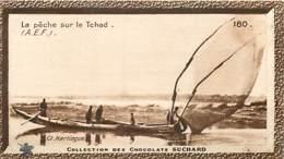 S9  TCHAD PECHE Sur Le Fleuve 10,5 X 6,5cm TRADECARD CHOCOLATE Colonies France Afrique - Vieux Papiers
